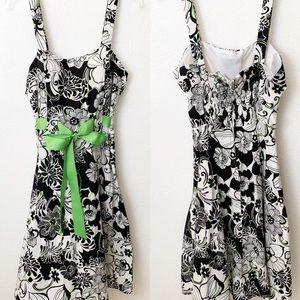 Karin Stevens Womens Sun Dress Size 8 Cotton Blend